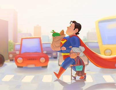 Super Help - Character Fanart Illustration