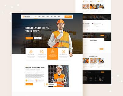 Bildmax - Construction PSD Template
