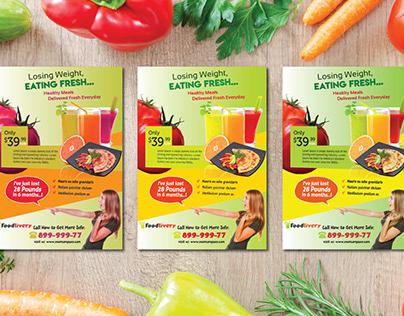 Unique food flyer