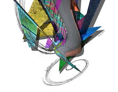Ciudad Abstracta Arte Digital
