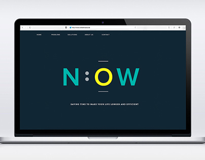 Typeface website design about time management