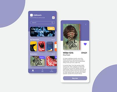 LibRoom | Mobile app design for a bookstore
