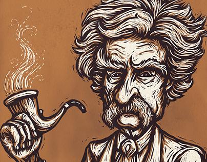 Mark Twain Caricature