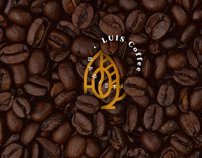 Luis Coffee - Barista -- diseño de logo