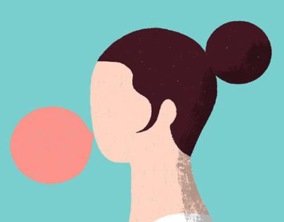 Bubblegum Face
