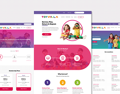 ToyVilla Website Design