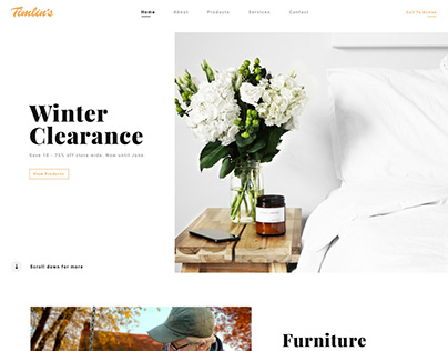 Timlin's Furniture - Site Design