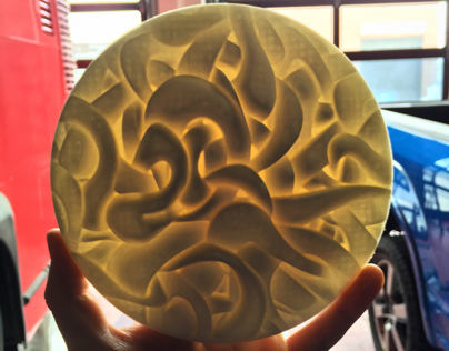3D Printed Relief Sculpture.