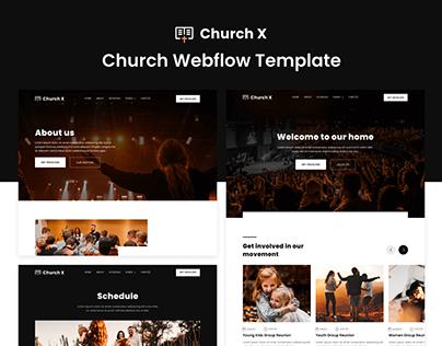 Church X - Church Webflow Template