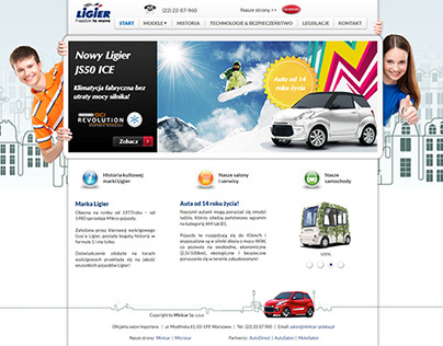 Ligier official website in Poland (2015-2016 year)