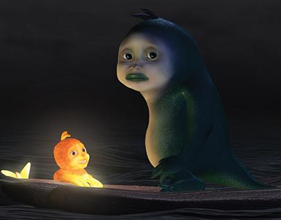 Merman and Fish