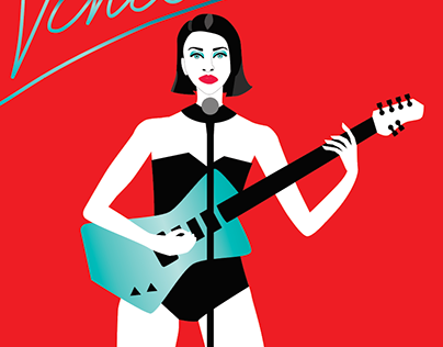 St Vincent Vector Illustration Animated Neon Type