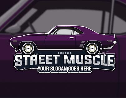 Muscle Car Logo Template