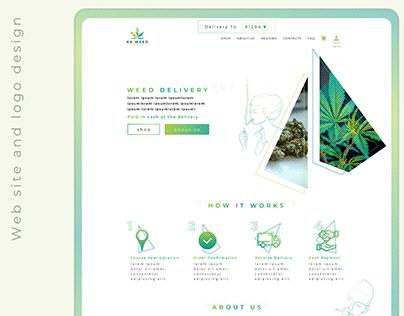 """KK weed"" company website and logo design"