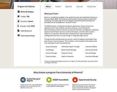 Program Page Redesign - UOPX