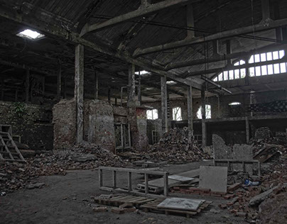 Photography HDR natural effect (abandoned factory)