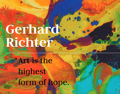 Gerhard Richter Website