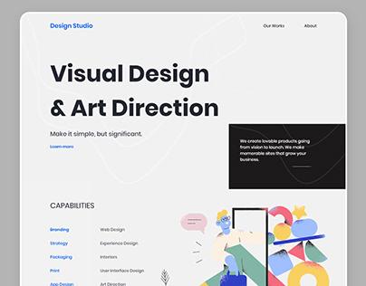 Design Agency Landing Page V3