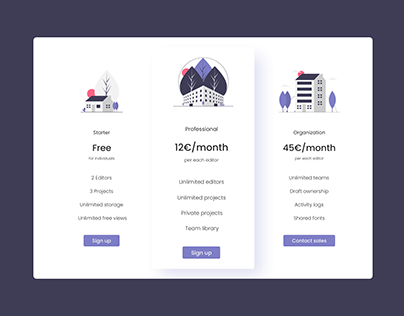 Daily UI Challenge #028 - Pricing