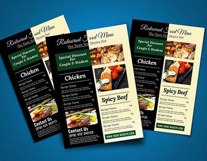Food Flyer/ Food Menu