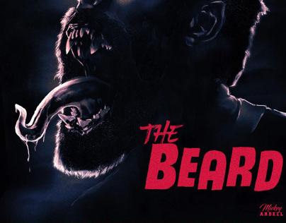 The Beard - mock James Harden horror movie poster