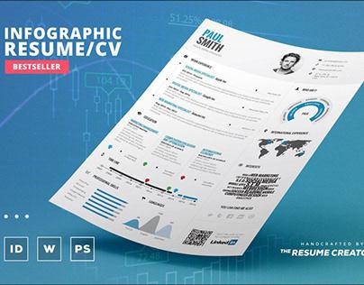 Infographic Resume / CV Template Vol.1