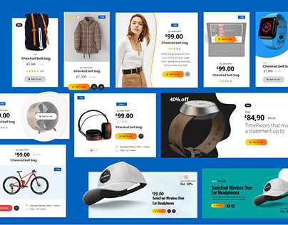 eCommerce Website Widget UX Kit Elements PSD