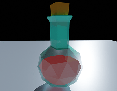 low poly potion bottle