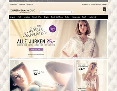 Redesign web visuals   Christineleduc.nl .fr .de