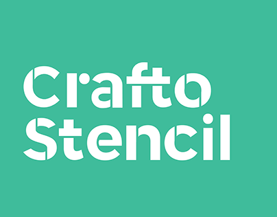 Crafto Stencil | Type design