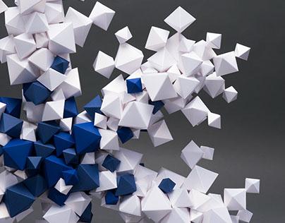 Paper sculpture for Antalis storefront