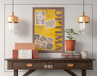 Poster Tipográfico - Hermann Zapf (Optima)