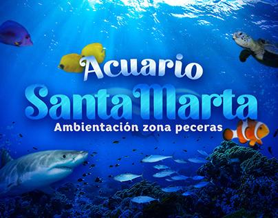 Acuario Santa Marta Ambientación zona peceras