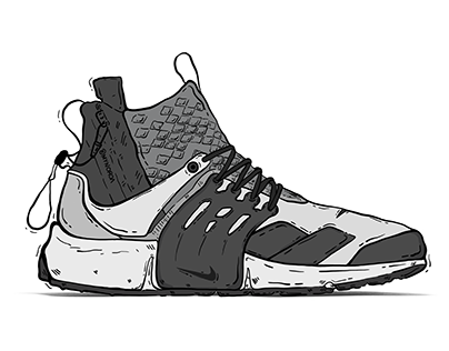 ACRONYM x Nike Shoes Illustration