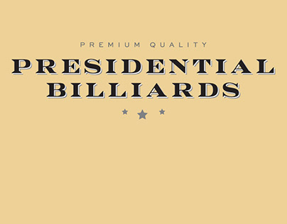 Presidential Billiards Catalogues