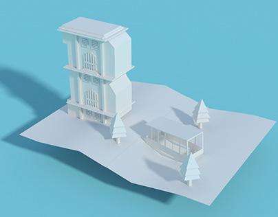 3D Paper Experiment