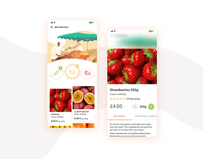 Concept Mobile App - At the farmers market.