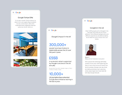 Google About Pages