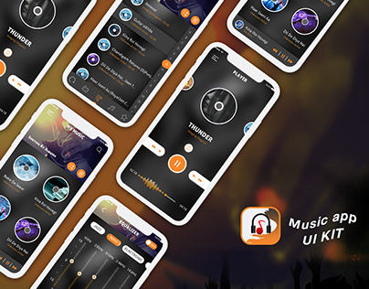 New Music design app ui concept PSD
