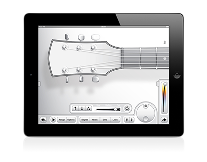 fretArt - iPad App for guitar, UI/UX