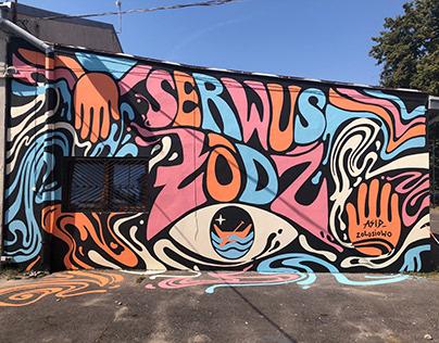 """SERWUS ŁÓDŹ"" mural"