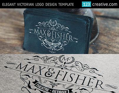 Victorian Elegant Logo template - vintage design