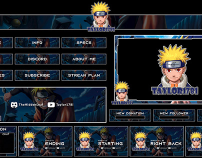 Twitch Stream Overlays full Package