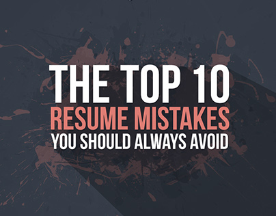 Top 10 Resume Mistakes (infographic)