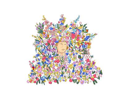 Midsommar ı May Queen Illustration