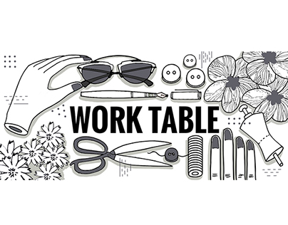 Worktable Illustrations for FUSS x Vogue