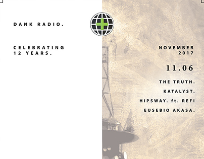Dank Radio - Continental Room Residency - Flyer Design