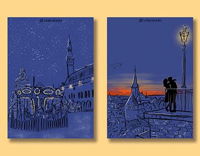 #visitestonia Illustrations