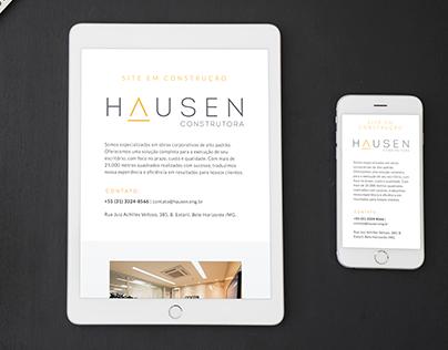 Site Provisório - Hausen