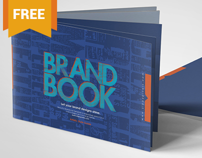 Free Brand Book Template - Cool Blue